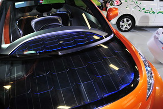 solar panels on the hood
