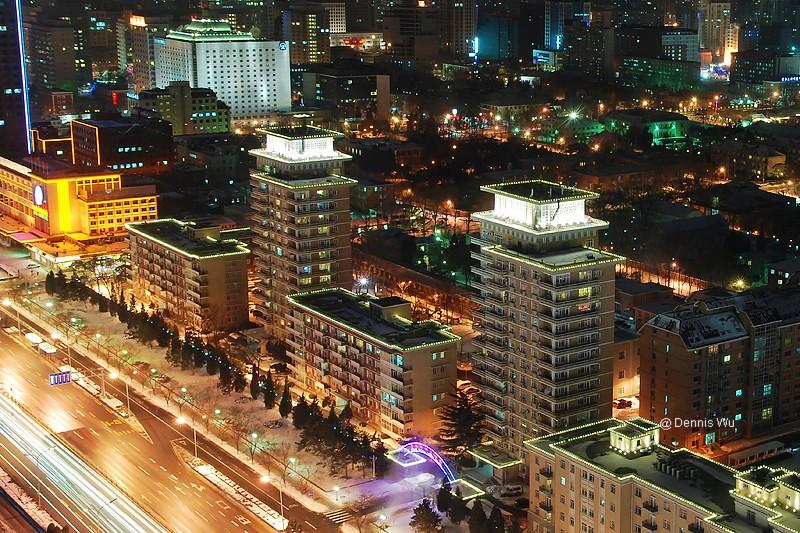 Night of QiJiaYuan Diplomatic Residence Compound BJS 北京齐家园外交公寓夜景