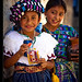 Girls, pepsi and snacks, Guatemala