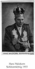 1955, Hans Malzkorn, Schützenkönig, SW079