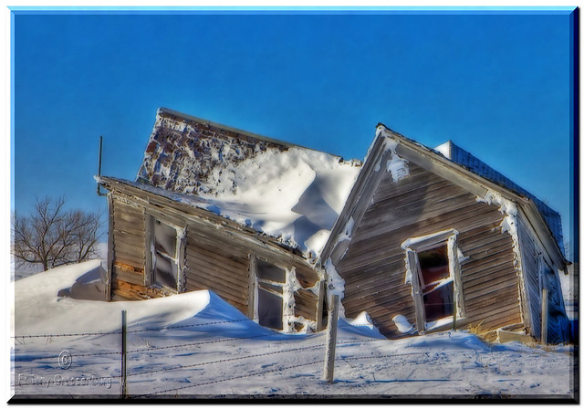 snow covered house - photo #12