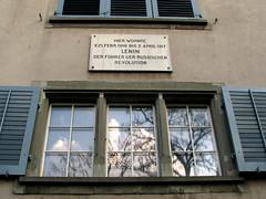 Photo of Vladimir Ilyich Lenin white plaque