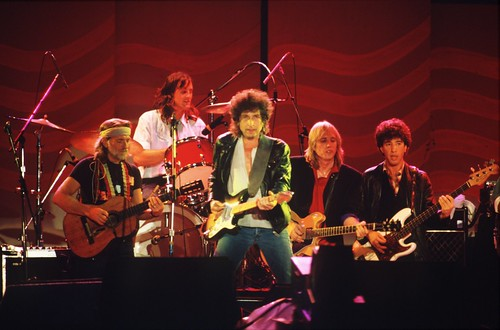 Bob Dylan, Tom Petty & Willie Nelson at Farm Aid 1985
