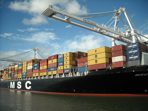 Container Ship MSC Texas