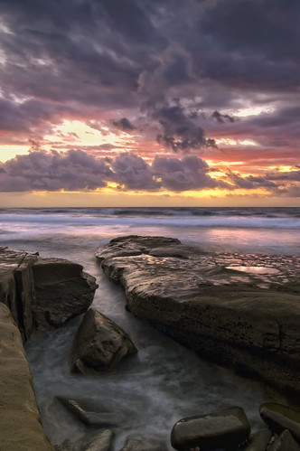 ocean sunset sea seascape beach water clouds nikon rocks day waves sandiego cloudy tide lajolla reef tidepool sie oceanscape theunforgettablepictures