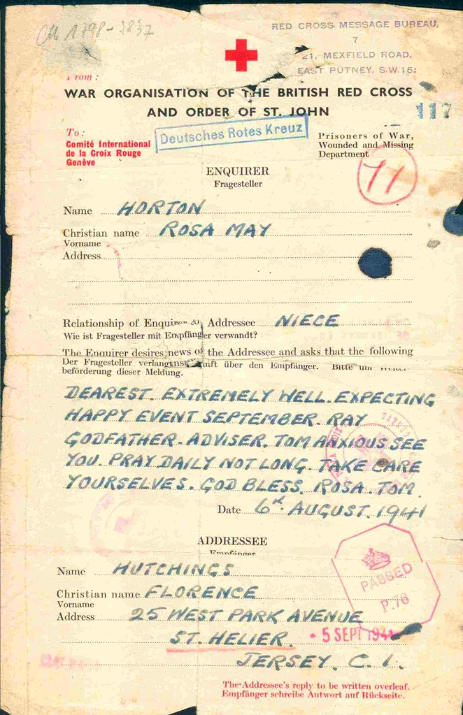 Red Cross message in the Second World War | During the Germa