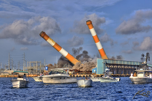 FPL Power Plant Smokestack Explosion