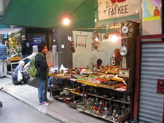 antiques and knick-knacks for sale on Hollywood Road.