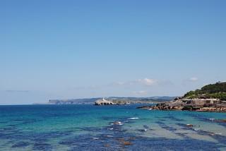 Segunda Playa del Sardinero 의 이미지. sea color bay spain mare colori santander spagna baia
