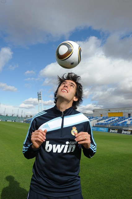 Kaka heads Jabulani ball