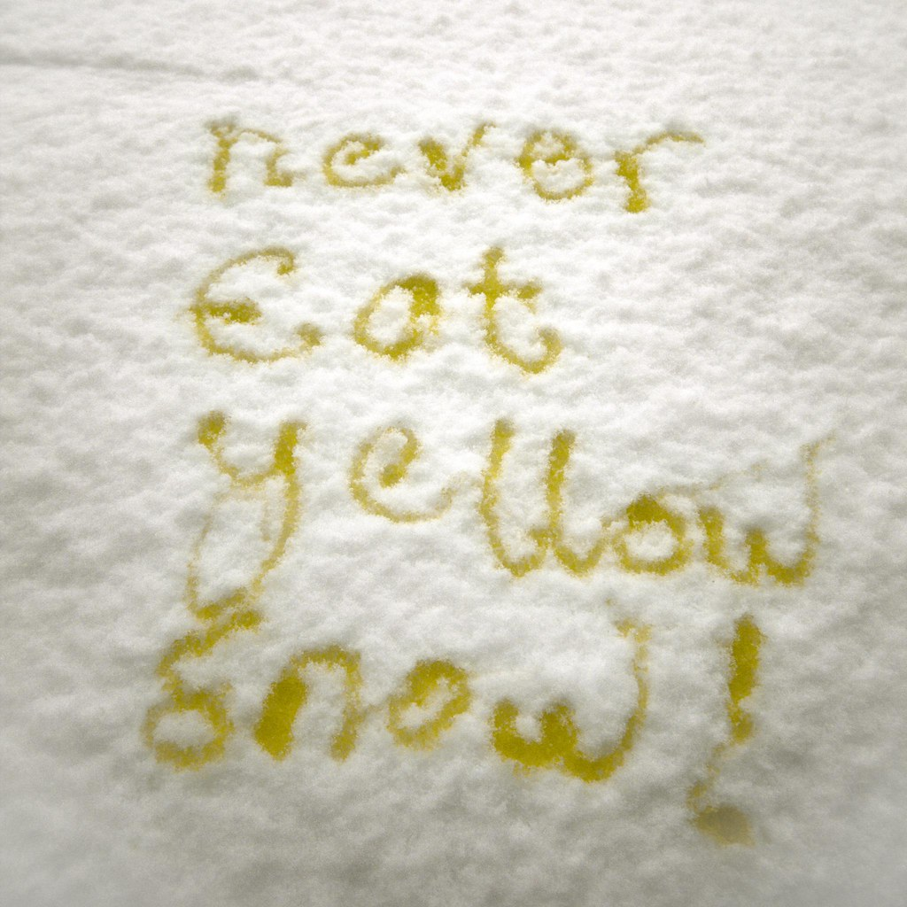 Snow Safety: Important Dietary Advice.Never Eat Yellow Snow