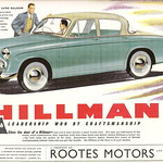 Hillman cars advert issued by rootes motors of coventry for Pb motors rochester ny
