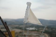 White flag in the razor wire