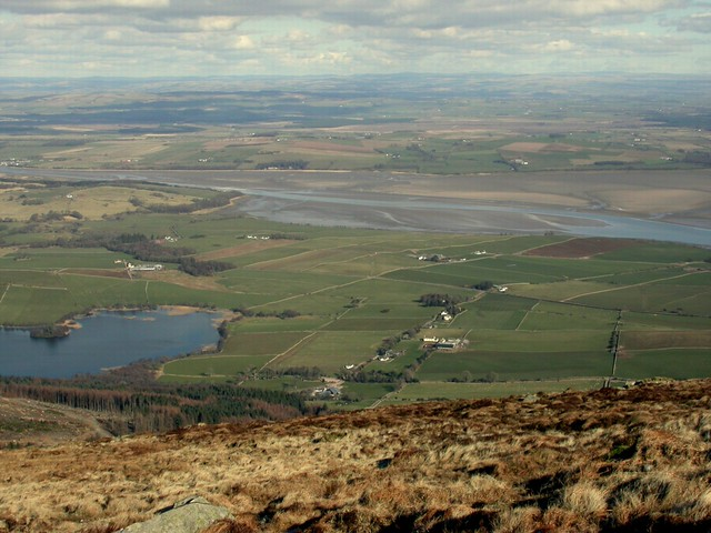 Loch Kindar and Nith Estuary from Criffel