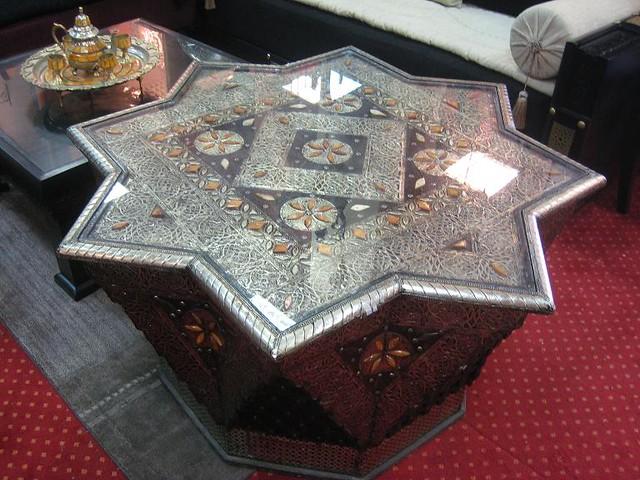 moroccan furniture  moroccan furniture  By الزخرفة المغربية  Flickr  Pho -> Table Salon Marocain