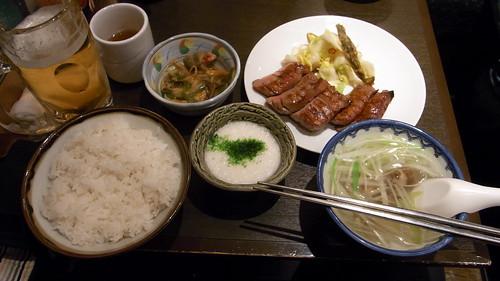 牛タン極定食 @ 利久