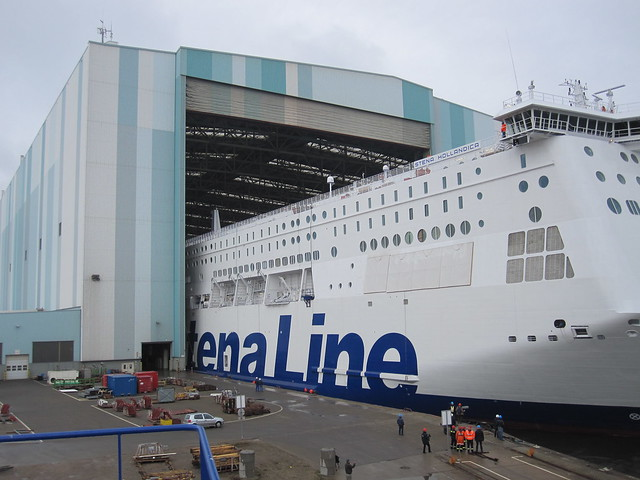 Stena Hollandica out of the dock 2