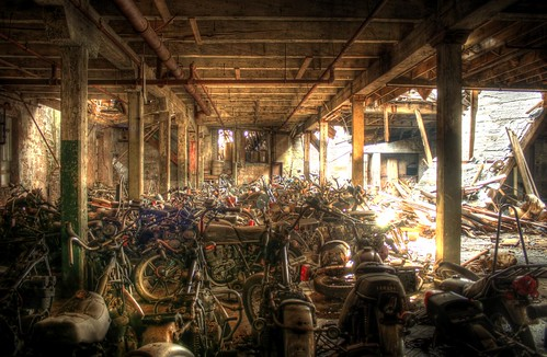 Motorcycle Graveyard by cseward