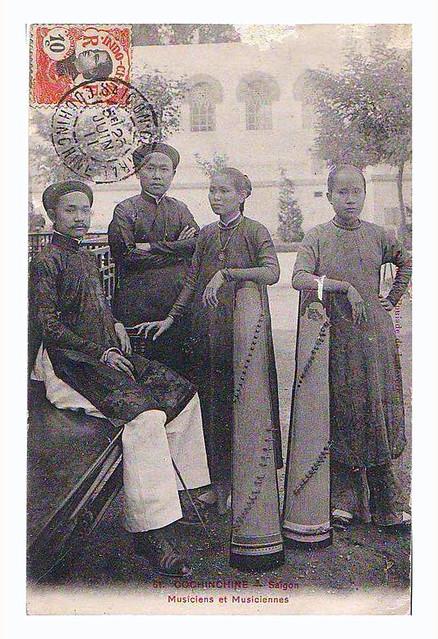 SAIGON, 23 Juin 1911 - Musiciens et Musiciennes