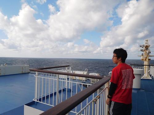 甲板に出てみる