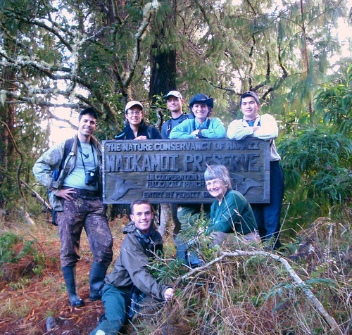 The September Volunteers at the TNC Waikamoi Preserve entrance.