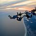 Skydiving Nov 2009, 7-way sunset at the beach by divemasterking2000
