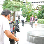 Singapore soap opera, on location