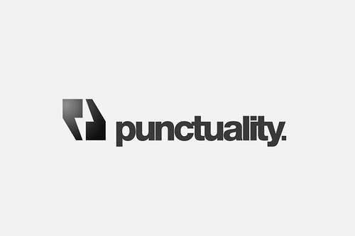 Punctuality 'Negative Space' Logo Concept