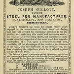 Advertisement for Gillott