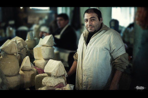 Cheese seller at Tbilisi Market