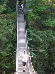 funicular(0.0), vehicle(0.0), transport(0.0), rolling stock(0.0), track(0.0), suspension bridge(1.0), canopy walkway(1.0), rope bridge(1.0), bridge(1.0),