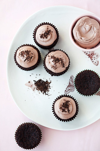chocolate, banana and teff cupcakes