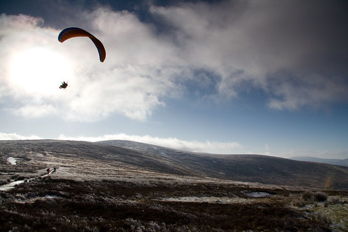 Paramotorist at Black Hill