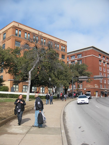 The former Texas School Book Depository Building in Dealey Plaza, Dallas