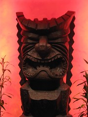 carving, art, sculpture, red, tiki, illustration,