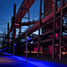 Zeche Zollverein in Essen while blue hour (an old mining area with power plants)