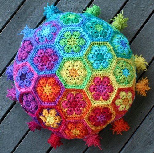 African Flower Cushion