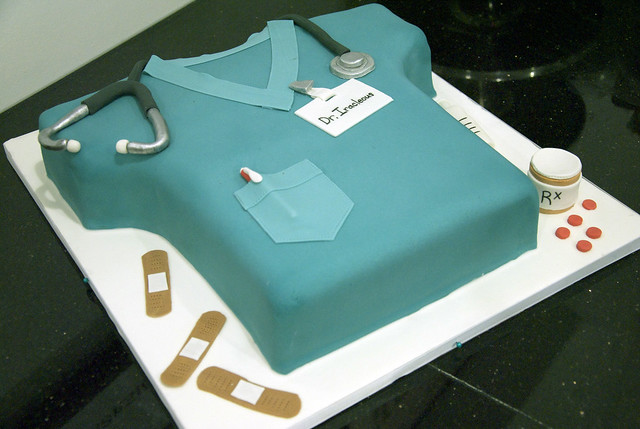 Cake Decorating Medical Theme : doctor scrubs cake A birthday cake to look like Doctor s ...