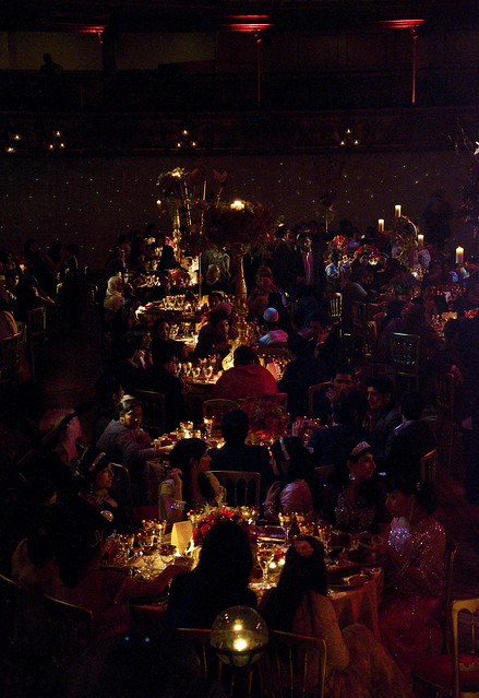 Blackpool Tower Ballroom 600 guests Many hundreds of candles lit the guests