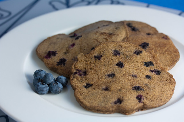 Vegan Blueberry Buckwheat Pancakes