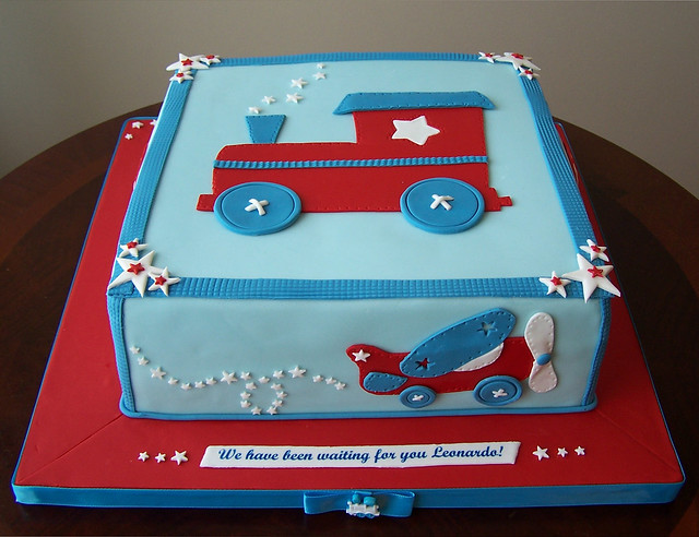 Train, plane and car baby shower