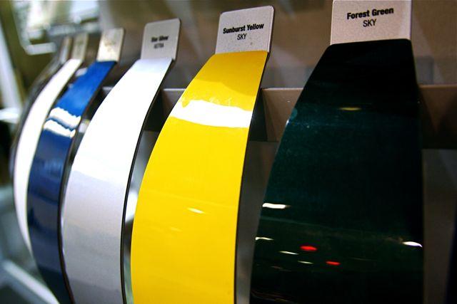 car paint samples true color assessment