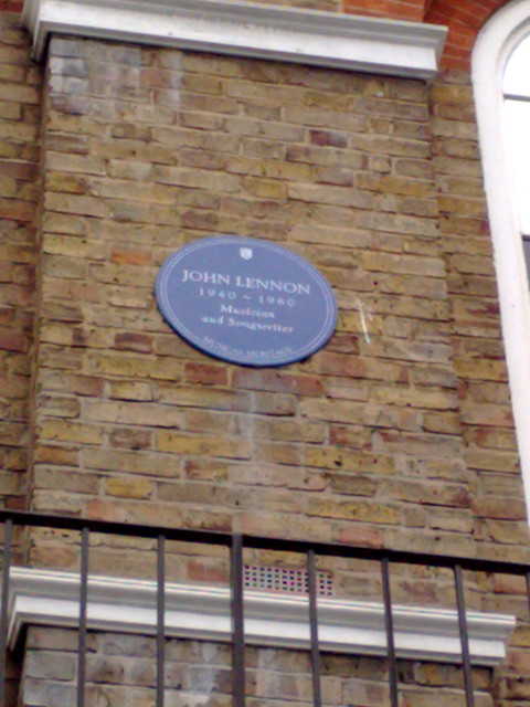 John Lennon blue plaque - John Lennon 1940-1980 musician and songwriter