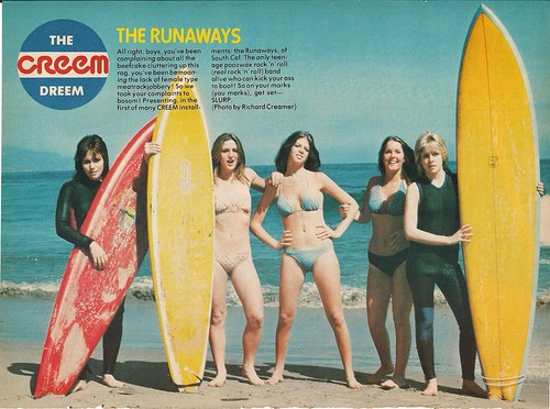 The Runaways Pin Up (Creem Magazine - 1977)