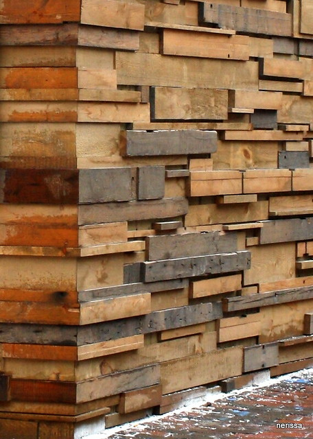 Uneven Wooden Wall Design Flickr Photo Sharing