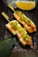Grilled salmon belly with Ponzu Sauce - DSC_2856