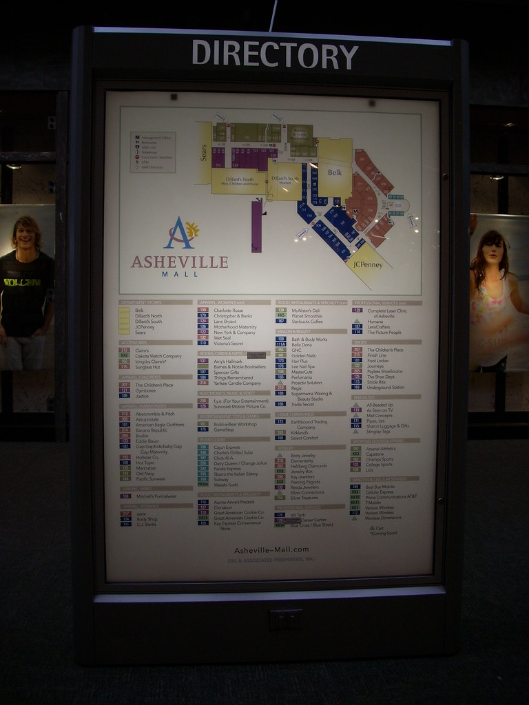 Asheville Mall Map Asheville Mall directory   a photo on Flickriver Asheville Mall Map