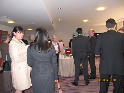 Customers take a break at the Access event