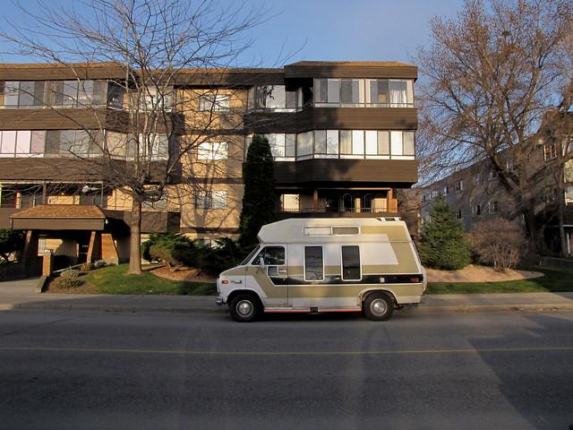 Van with Vertical Windows