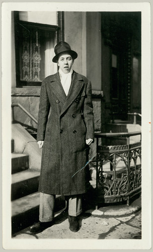 Man with hat and long coat